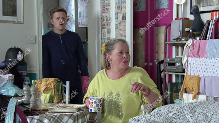 Coronation Street - Ep 10145 Monday 19th October 2020 Gemma Winter, as played by Dolly-Rose Campbell, urges Chesney Brown, as played by Sam Aston, and Bernie Winter, as played by Jane Hazlegrove, to find more work.