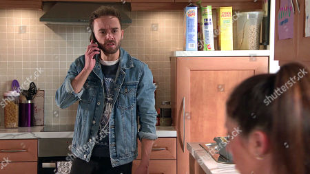 Coronation Street - Ep 10139 Monday 12th October 2020 - 1st Ep David Platt's, as played by Jack P Shepherd, horrified when he catches Shona Platt, as played by Julia Goulding, about to take Max's medication instead of her own.