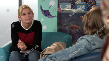 Coronation Street - Ep 10136 Wednesday 7th October 2020 - 2nd Ep Leanne Tilsley, as played by Jane Danson, furious after finding out that Nick Tilsley has a son and insists he summons Natasha Blakeman, as played by Rachel Leskovac, and Sam Blakeman to the hospital. As she meets Sam how will Leanne react?