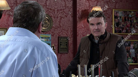 Coronation Street - Ep 10149 Friday 23rd October 2020 - 1st Ep Scott, as played by Tom Roberts, talks Johnny Connor, as played by Richard Hawley, through his plan to rob Ray and his mates. Johnny's sick with worry.