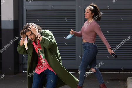 Coronation Street - Ep 10143 & Ep 10144 Friday 16th October 2020  A model, Hugo, as played by Declan O'Connor, arrives in need of an emergency haircut but Shona Platt, as played by Julia Goulding, takes an instant dislike to him and when David Platt's back is turned he's horrified to discover Shona has shaved off Hugo's topknot!