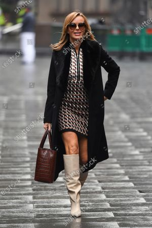 Amanda Holden arrives at the Global Radio Studios