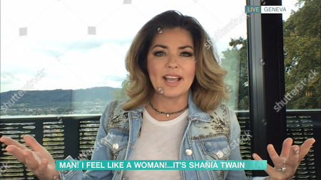 Stock Photo of Phillip Schofield, Holly Willoughby, Shania Twain
