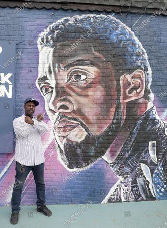 Editorial photo of Chadwick Boseman Black Panther Tribute Mural, Brooklyn, New York, USA - 27 Sep 2020