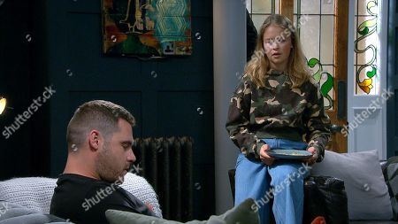 Emmerdale - Ep 8862 Thursday 15th October 2020 - 1st Ep Liv Flaherty, as played by Isobel Steele, tries to convince Aaron Dingle, as played by Danny Miller, Ben seems a decent guy.