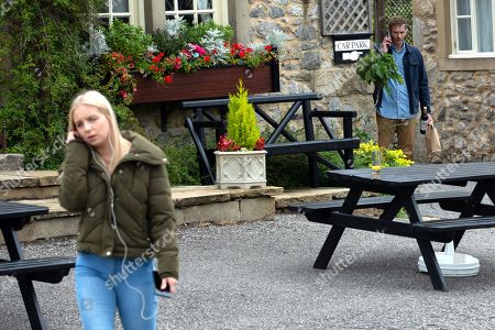 Emmerdale - Ep 8864 Friday 16th October 2020 Jamie Tate, as played by Alexander Lincoln, sets a plan against Belle Dingle, as played by Eden Taylor-Draper, in motion.