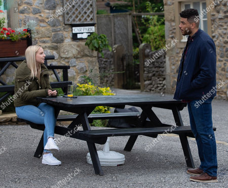 Emmerdale - Ep 8863 Thursday 15th October 2020 - 2nd Ep Nate Robinson, as played by Jurell Carter, tries to encourage a drained Belle Dingle, as played by Eden Taylor-Draper, to stay positive after a meeting with their solicitor.