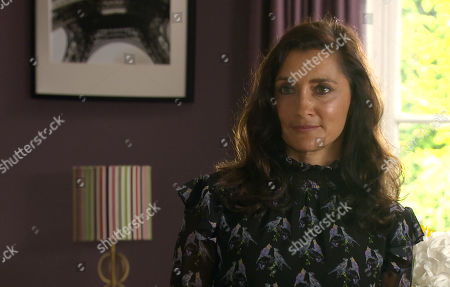 Emmerdale - Ep 8854 & Ep 8855 Tuesday 6th October 2020 Meena is turning her charms to Rishi Sharma who enjoys the attention as she opens up about her life and an uneasy Manpreet Sharma, as played by Rebecca Sarker, worries about the closeness developing between them.
