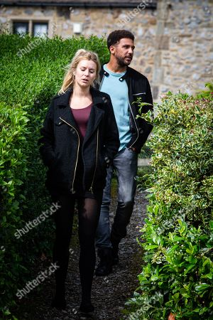 Emmerdale - Ep 8857 Thursday 8th October 2020 Dawn Taylor, as played by Olivia Bromley, soon is drowning her sorrows but before long Billy Fletcher's, as played by Jay Kontzle, aware there must be a big secret reason they can't be together.