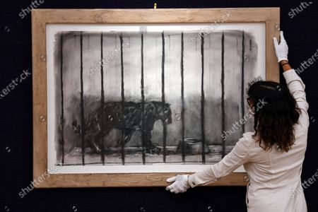 The Caged Panther from 'Confessions of Zeno' by William Kentridge, est. £70,000 - 100,000, which features in the Modern & Contemporary African Art Sale taking place at Bonhams in New Bond Street, Monday 5 October, London.