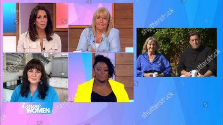 Andrea McLean, Linda Robson, Coleen Nolan, Judi Love, James Argent and Mum Patricia