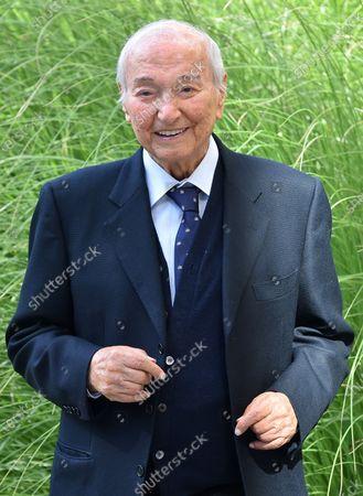 Stock Photo of Italian journalist and conductor Piero Angela