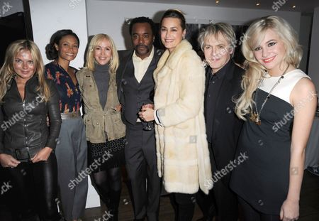 Stock Image of Geri Halliwell, Thandiwe Newton, Sally Green, Lee Daniels, Yasmin Le Bon, Nick Rhodes and Pixie Lott