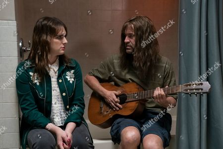 Stock Image of Hari Nef as Katherine and Mark Duplass as Graham Husker