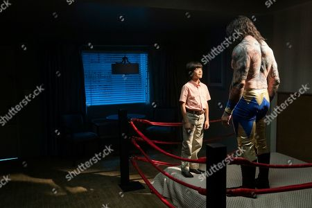Evan Girard-sun as Young Doug and Dave Bautista as Doug 'Raw Dawg Avalanche'