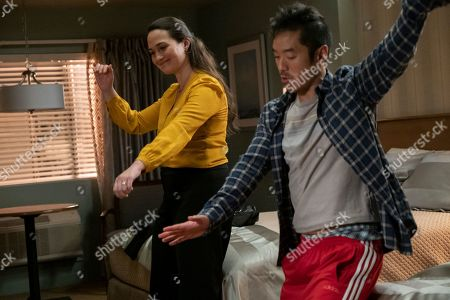 Stock Picture of Lily Gladstone as Abby and Leonardo Nam as Bruce
