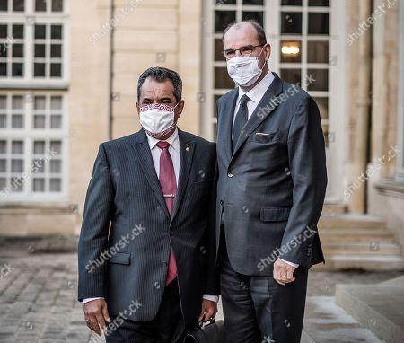 Edouard Fritch and Jean Castex at Hotel de Matignon