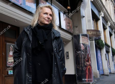 English comedian, screenwriter, singer and actress Jennifer Saunders joins a 'two minute silent stand' on behalf of the theatre industry in the United Kingdom, outside the Gielgud Theatre in London, Britain, 05 October 2020. Many workers in Britain's theatre industry reportedly have lost their jobs and are not receiving any financial support from the government.