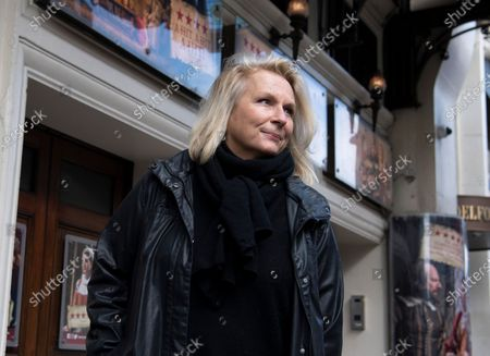 Stock Picture of English comedian, screenwriter, singer and actress Jennifer Saunders joins a 'two minute silent stand' on behalf of the theatre industry in the United Kingdom, outside the Gielgud Theatre in London, Britain, 05 October 2020. Many workers in Britain's theatre industry reportedly have lost their jobs and are not receiving any financial support from the government.