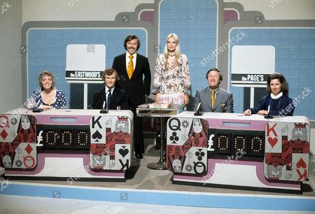 Dickie Davies, Eva Rueber-Staier and contestants