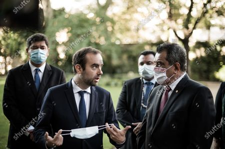 Editorial picture of President of French Polynesia Edouard Fritch visit to Paris, France - 03 Oct 2020