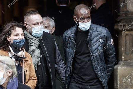 Abd al Malik (R) attends the funeral ceremony of French singer Juliette Greco at the Saint-Germain-des-Pres church in Paris, France, 05 October 2020. Juliette Greco died at the age of 93 on 23 September 2020.