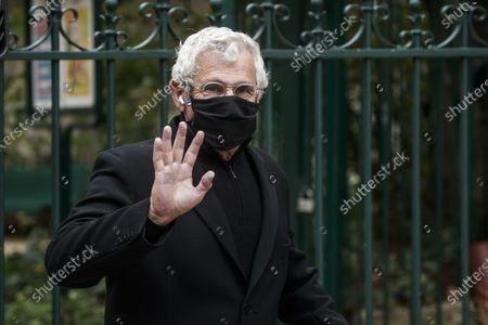 Michel Boujenah attends the funeral ceremony of French singer Juliette Greco at the Saint-Germain-des-Pres church in Paris, France, 05 October 2020. Juliette Greco died at the age of 93 on 23 September 2020.