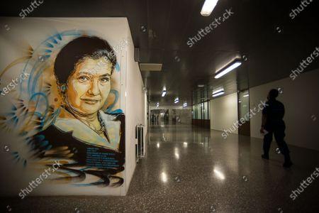 Editorial photo of C215 street art works, prison de la Sante, Paris, France - 05 Oct 2020