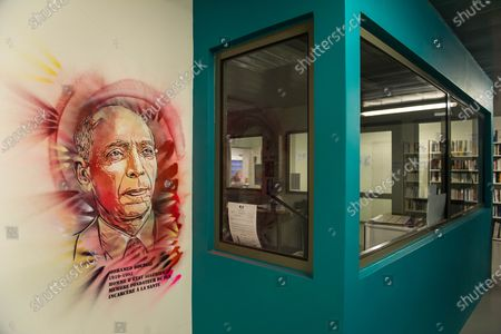 Editorial image of C215 street art works, prison de la Sante, Paris, France - 05 Oct 2020