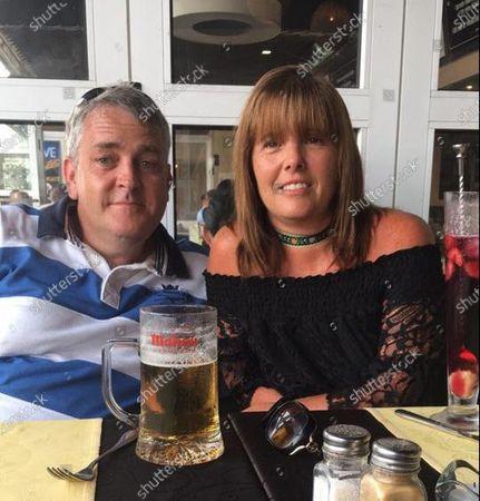 Andrew Davies with wife Rhiannon