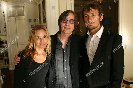 Sheryl Crow, Jackson Browne and Tao Ruspoli