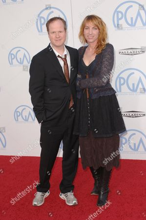 Stock Picture of Joss Whedon and wife Kai Cole