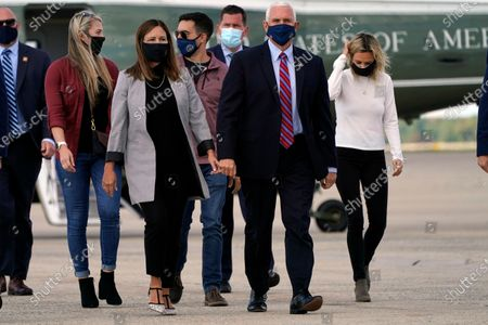 Editorial picture of Virus Outbreak Pence, Andrews Air Force Base, United States - 05 Oct 2020