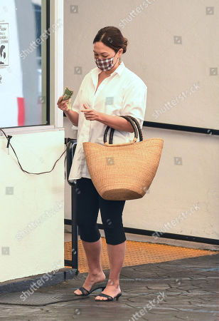 Editorial picture of Lindsay Price out and about, Los Angeles, USA - 05 Oct 2020