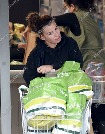 Coleen Rooney shopping in Waitrose in Alderley Edge