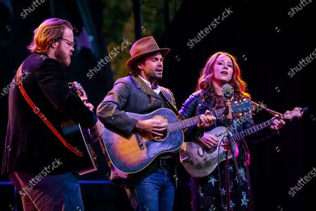 The Lone Bellow - Brian Elmquist, Zach Williams and Kanene Pipkin - play a socially-distant show in Connecticut