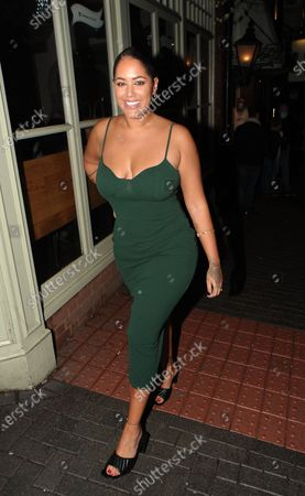 Editorial picture of Malin Andersson out and about, PeaHen bar, St Albans, UK - 03 Oct 2020