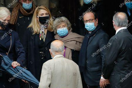 Stock Picture of Julie Gayet and Francois Hollande