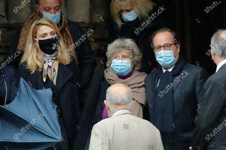 Stock Photo of Julie Gayet and Francois Hollande