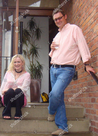Stock Image of Writers Jeff Pope & Caroline Aherne