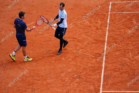 Neil Skupski and Jamie Murray of Great Britain in second round Men's Doubles action