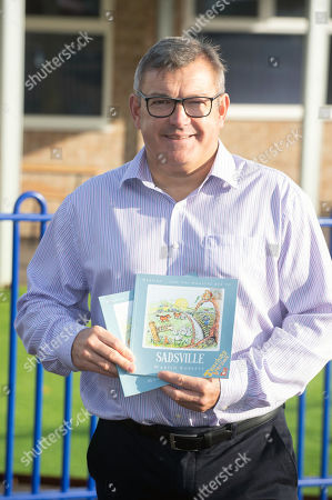 Martin Roberts launches a nationwide schools initiative at Paulton Junior School, Bristol. All 22,500 UK primary schools will receive the specially created teaching version of Martins book, 'Sadsville'.  The book is aimed at helping children understand their emotions and why they might me struggling with unhappiness.  In addition to providing complementary teaching material,  the book will also guide children in ways to feel happier and where to find support. Headteacher Matt Grosvenor.