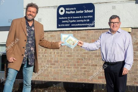 Martin Roberts launches a nationwide schools initiative at Paulton Junior School, Bristol. All 22,500 UK primary schools will receive the specially created teaching version of Martins book, 'Sadsville'. The book is aimed at helping children understand their emotions and why they might me struggling with unhappiness. In addition to providing complementary teaching material, the book will also guide children in ways to feel happier and where to find support. Headteacher Matt Grosvenor with Martin.