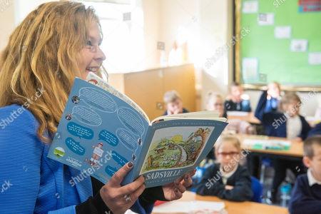 Editorial photo of Martin Roberts lauches book ''Sadsville'', Paulton Junior School, Bristol, UK - 05 Oct 2020