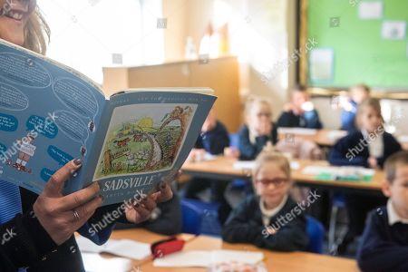 Editorial image of Martin Roberts lauches book ''Sadsville'', Paulton Junior School, Bristol, UK - 05 Oct 2020