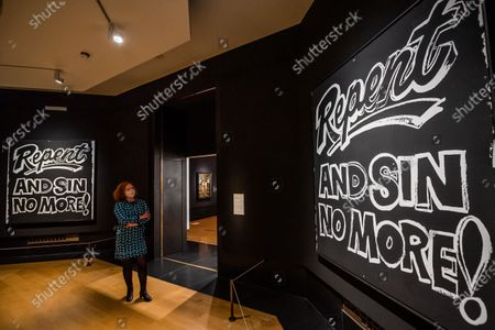 Andy Warhol, Repent and Sin No More! 1985-86 - Sin a new exhibition at the National Gallery. The exhibition will run from 07 Oct 2020 to 03 January 2021 with social distancing, a one way system and other precautions due to the Coronavirus (Covid 19) outbreak.