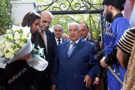 Syrian Foreign Minister Walid al-Moallem (C) attends the opening of the Abkhazian embassy in Damascus, Syria, 06 October 2020. An Abkhazian delegation is visiting Damascus for talks on bilateral relations and mutual exemption of visas for the citizens in both countries for bearers of diplomatic, official and private passports. Syria is among only five UN member states, including Russia that recognize Abkhazia as an independent state since a war in 2008 between Abkhaz and Russian forces and the Georgian forces.