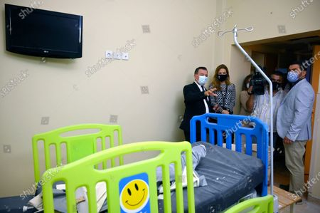 Editorial image of Princess Ghida Talal Chairperson of the King Hussein Cancer Foundation and Center visits Al Roum hospital, Beirut, Lebanon - 06 Oct 2020
