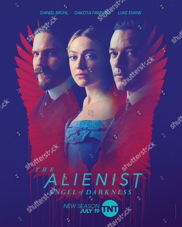 The Alienist: Angel of Darkness (2020) Poster Art. Daniel Bruhl as Laszlo Kreizler, Dakota Fanning as Sara Howard and Luke Evans as John Moore