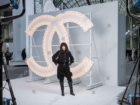 Editorial image of Chanel show, Front Row, Spring Summer 2021, Paris Fashion Week, France - 06 Oct 2020